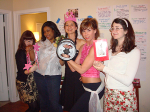 Some of the victorious Jackson ladies at the Battle of the Sexes party.